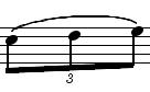 triolet chiffre bas liaison haut